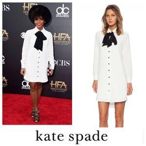 NWT Kate Spade Velvet Tie Griffin Dress, tux dress